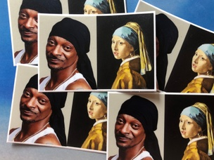 Snoop and the Pearl Earring Sticker