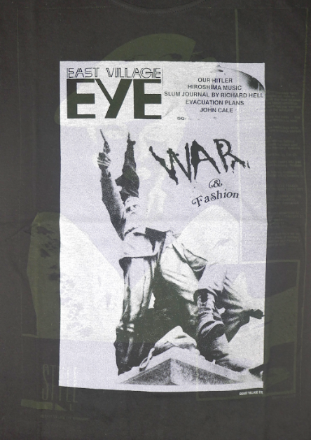 East Village Eye War and Fashion T-Shirt (Japanese Version)