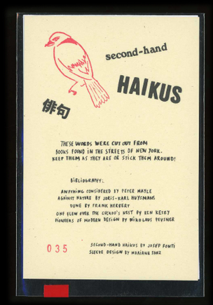 Second-hand Haikus
