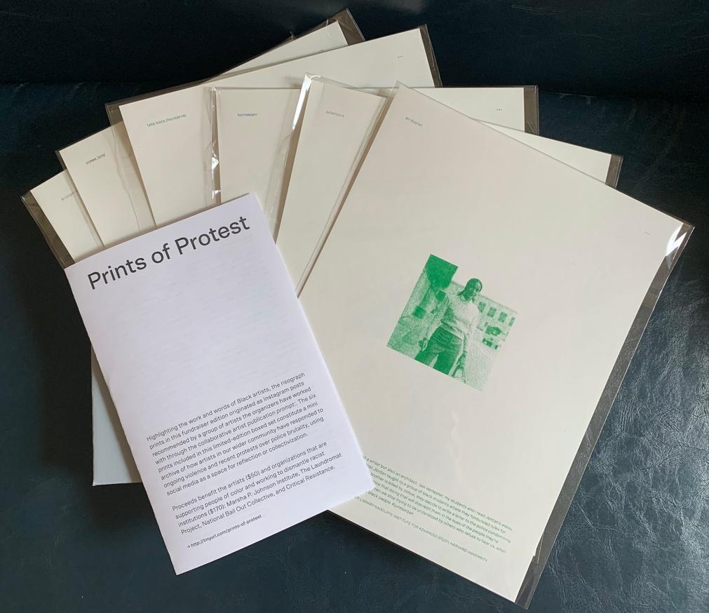 Prints of Protest: Boxed Set (Prints by Anaïs Duplan, Kameelah Janan Rasheed, Julian Louis Phillips, Tony Cokes, Neema Githere, and Erica Génécé) thumbnail 3