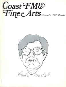 coast fm fine arts september 1969 andy warhol issue