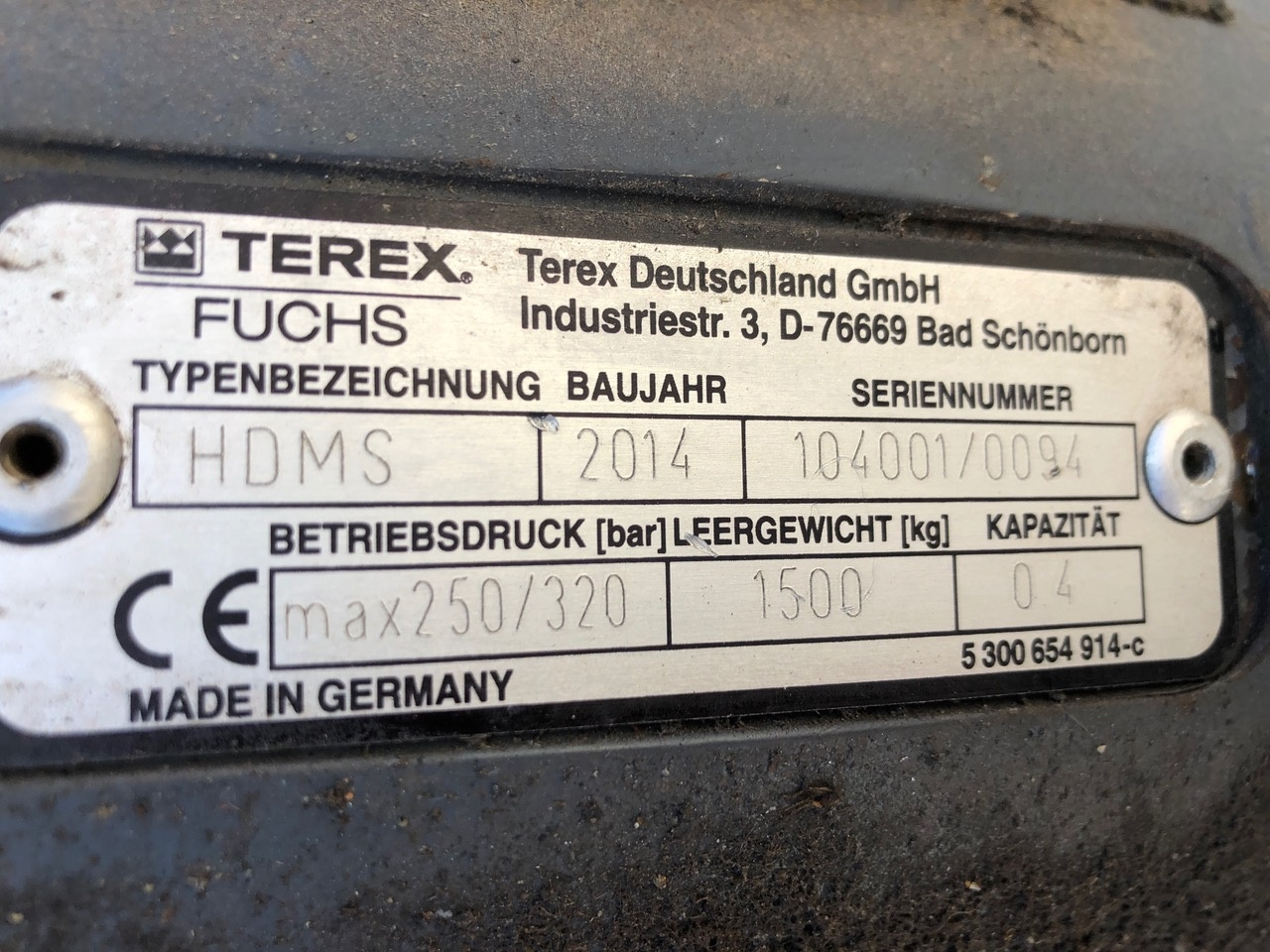 Used 2014 Fuchs HDMS For Sale
