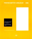 Printed Matter Catalogue 1986