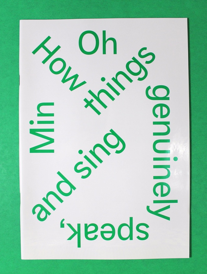 How Things Genuinely Speak, and Sing