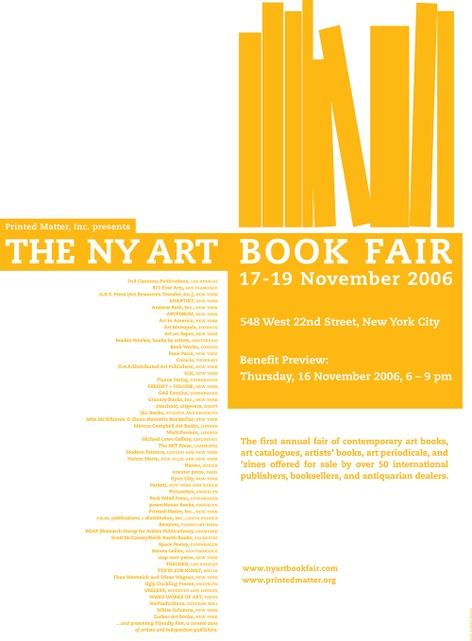 Printed Matter's 2006 NY Art Book Fair