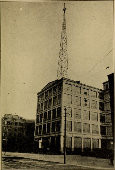Fig 1: Radio tower, Schenectady, New York. From Frederick E. Drinker and James G. Lewis, *Radio: Miracle of the Twentieth Century* (Washington, DC: National Publishing, 1922), i. © Underwood & Underwood.