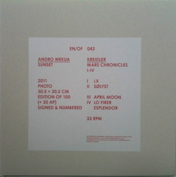 EN/OF 043: Kreidler ‎– Mars Chronicles I-IV thumbnail 2
