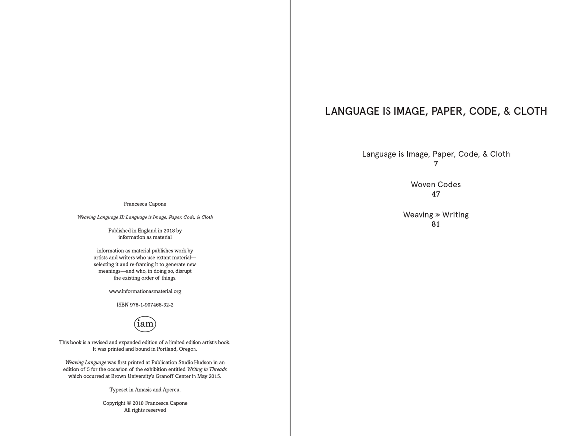 Weaving Language II: Language is Image, Paper, Code, & Cloth thumbnail 2