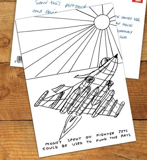 Money Spent on Fighter Jets Postcard