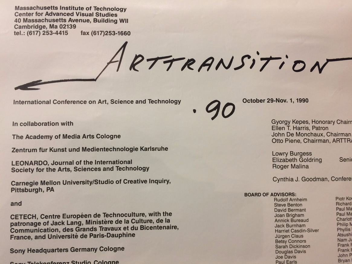 ARTTRANSITION : International Conference on Art, Science, and Technology Oct. 29 - Nov. 1, 1990 thumbnail 2