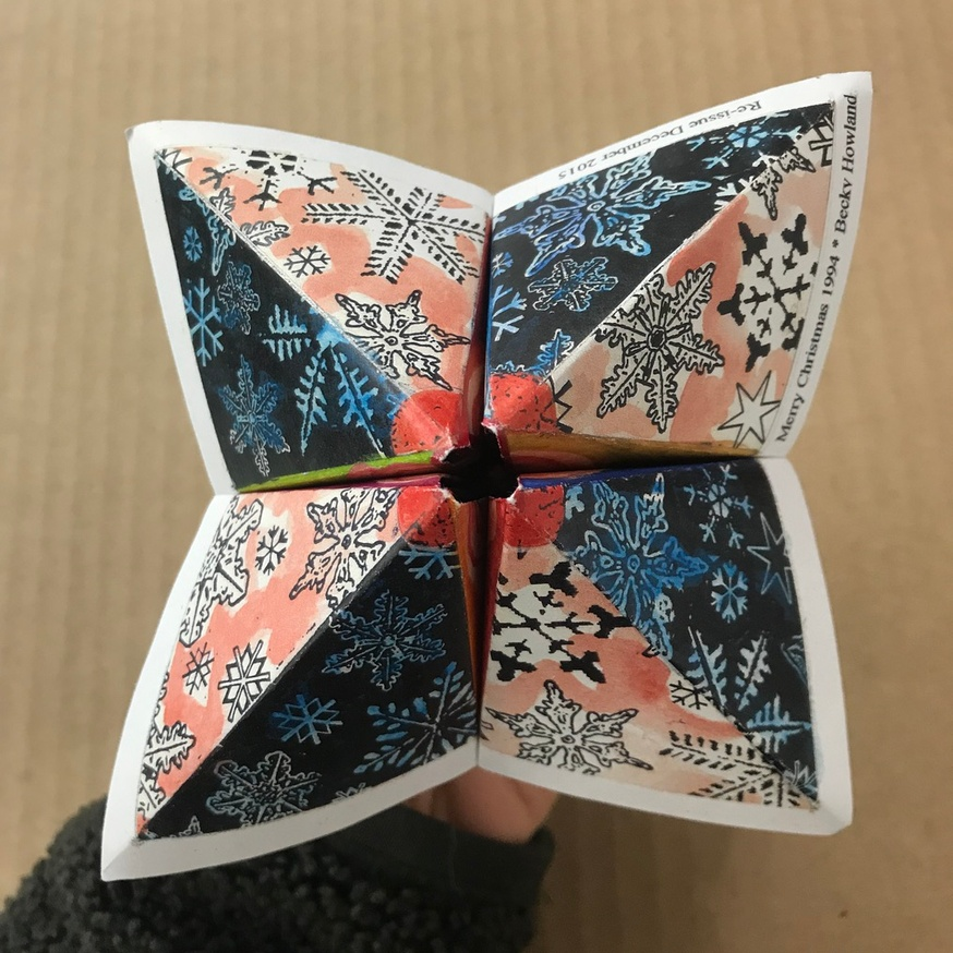 Cootie Catcher Christmas Card