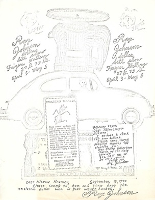 Ray Johnson Dollar Bill Show [Mail Art]
