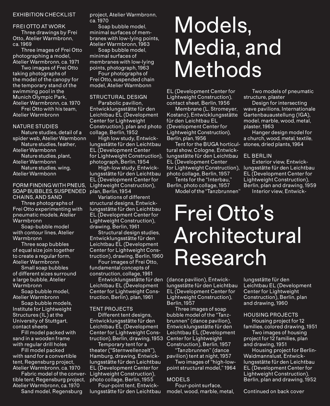 Cover of Models, Media, and Methods exhibition catalog