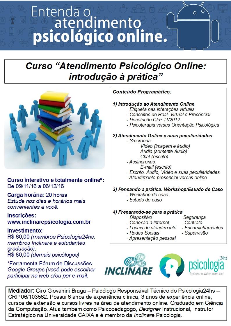 """Curso """"Atendimento Psicológico Online: Introdução à Prática"""""""