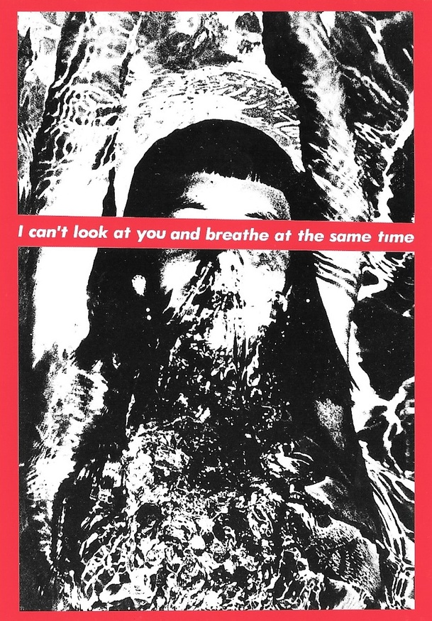 Untitled (I Can't Look at You and Breath at the Same Time) Postcard