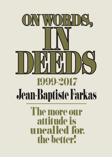 On Words, In Deeds by Jean-Baptiste Farkas