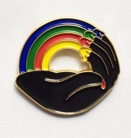 Coloured Publishing Logo Pin