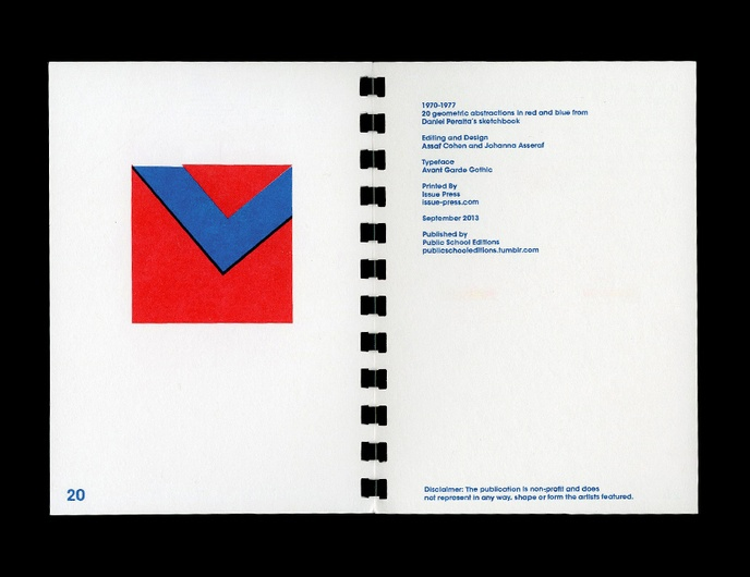1970-1977 : 20 Geometric Abstractions in Red and Blue from Daniel Peralta's Sketchbook thumbnail 6