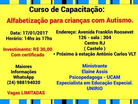 Alfabetização para crianças Autista