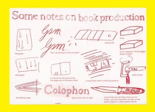 Some Notes on Book Production