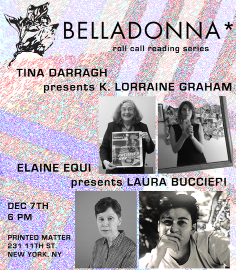 Belladonna* Roll Call Reading Series