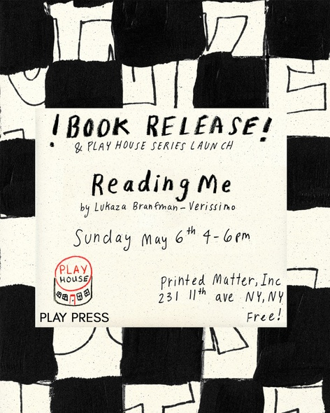 Reading Me : Book Launch with Lukaza Branfman-Verissimo