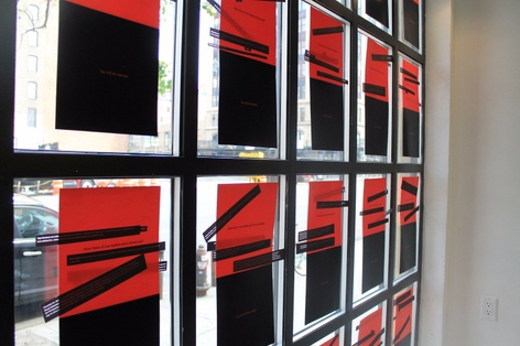 Inquiries, Statements, Listings - A window installation  by Tony Whitfield