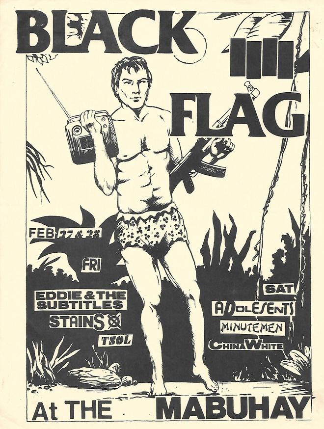 Black Flag Mubuhay Flyer Raymond Pettibon Ephemera $250.00