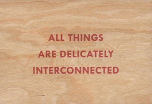 All Things Are Delicately Interconnected Wooden Postcard