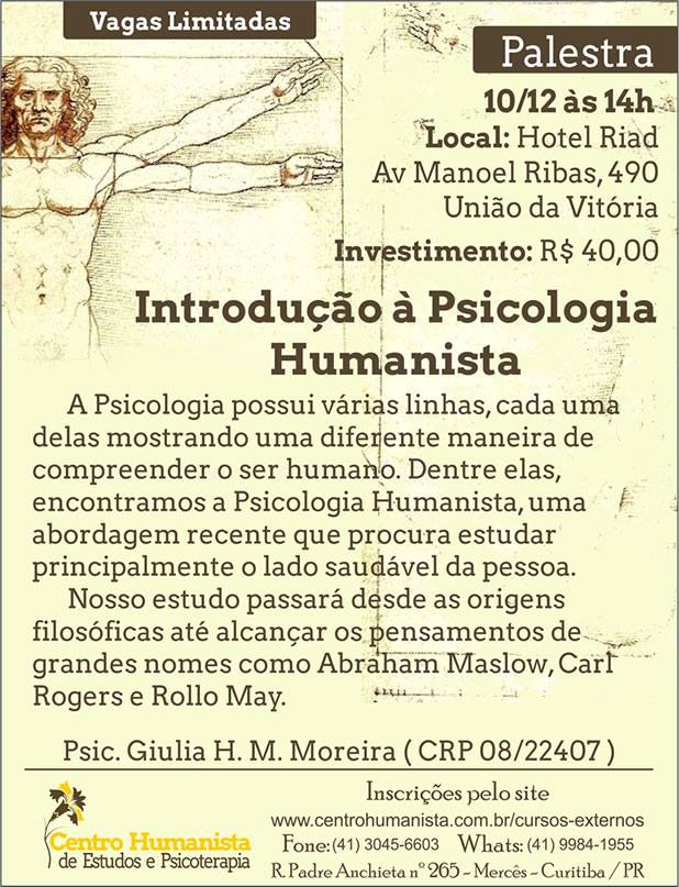 Introdução à Psicologia Humanista União da Vitória