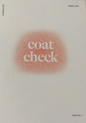 Coat Check: A Newsletter