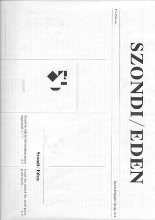 Szondi/Eden [Newsprint]