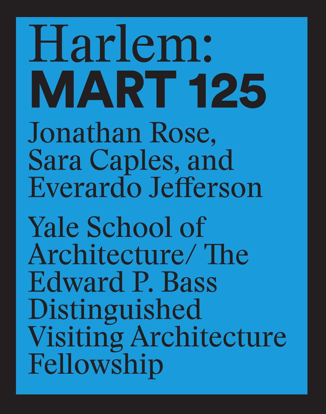Harlem Mart 125 cover