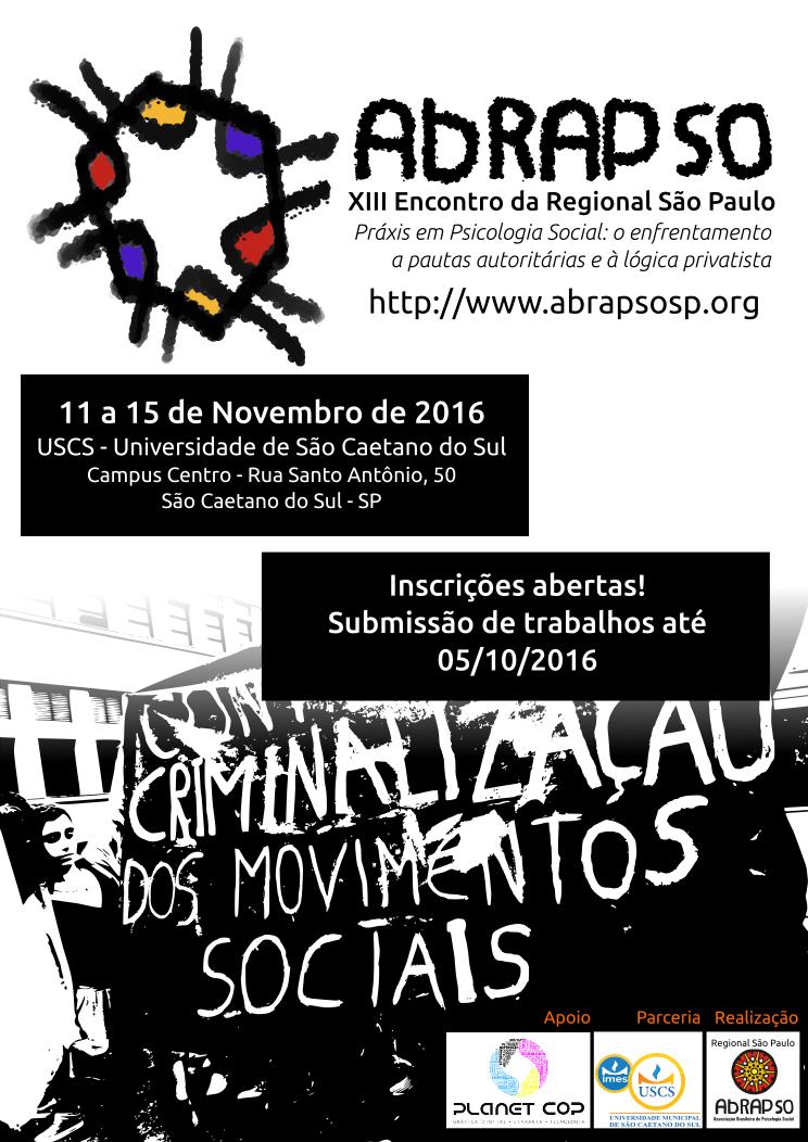 XIII Encontro da Regional São Paulo da Associação Brasileira de Psicologia Social / ABRAPSO