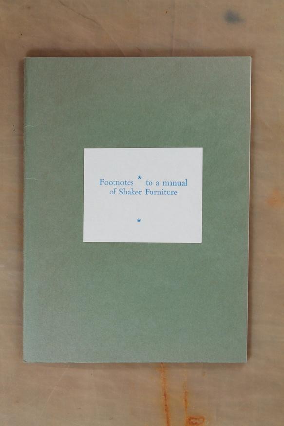 Footnotes To a Manual of Shaker Furniture thumbnail 2