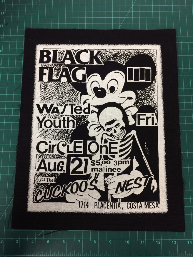 Black Flag Wasted Youth Patch