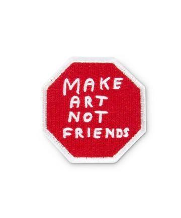 Make Art Not Friends Iron-On Patch thumbnail 2