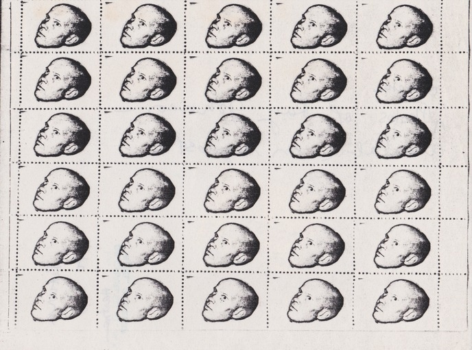 Untitled [Ray Johnson Head Stamps]