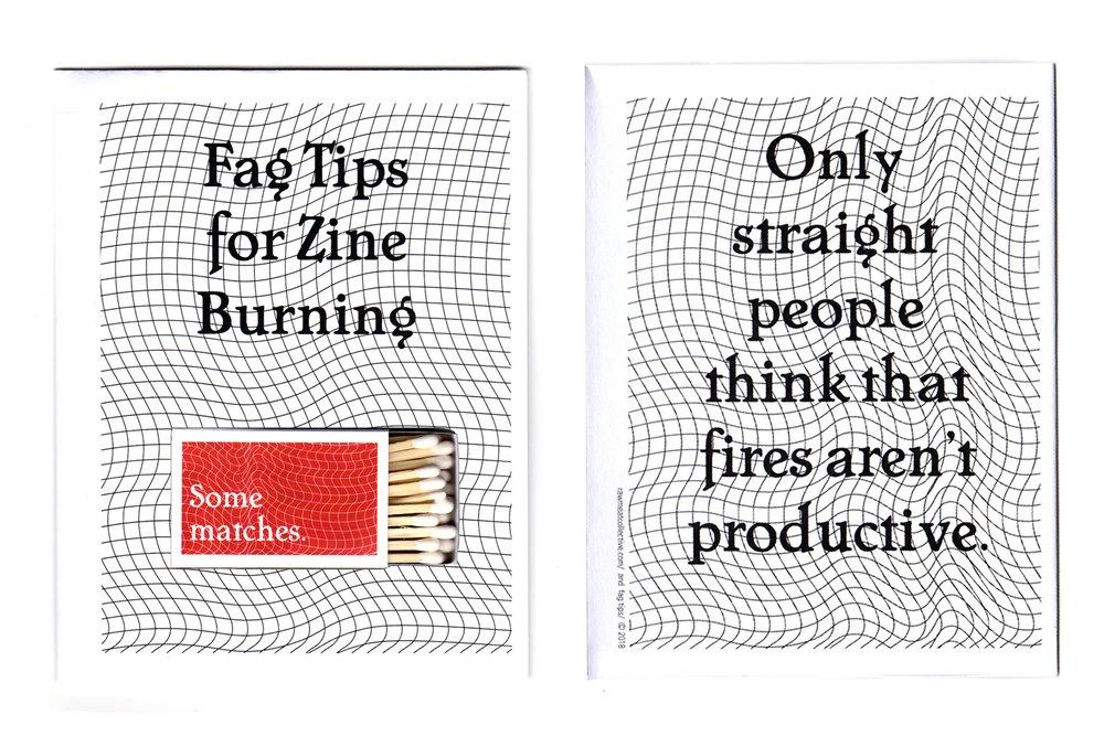 Fag Tips for Zine Burning