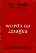 WhiteWalls : A Magazine of Writings by Artists