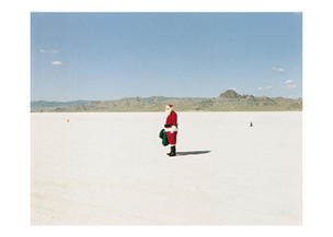 Santa, Bonneville Salt Flats, Utah, 1992 Greeting Card