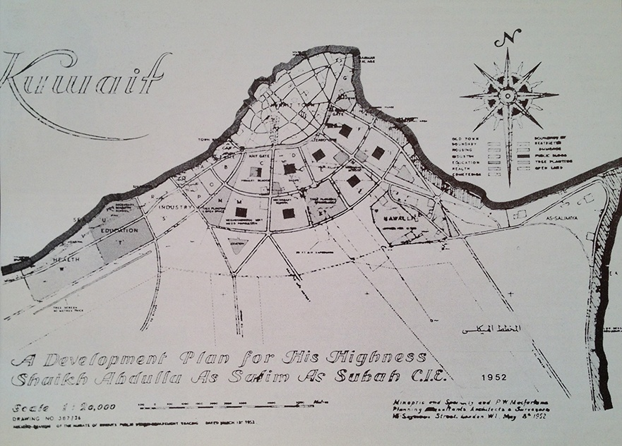Master plan by Minoprio, Spencely, and P.W. MacFarlane, 1952
