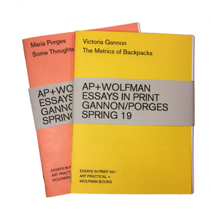 ESSAYS IN PRINT 001 & 002: SPRING 2019