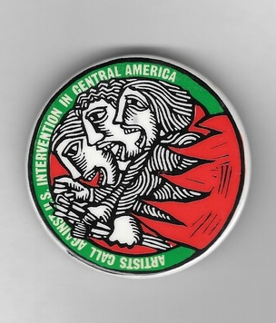 Artists Call Against US Intervention in Central America Pin