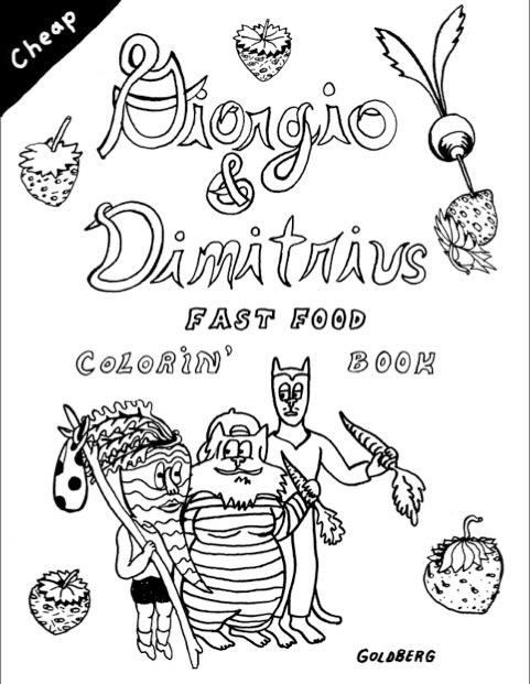 Giorgio & Dimitrius: Fast Food Coloring Book