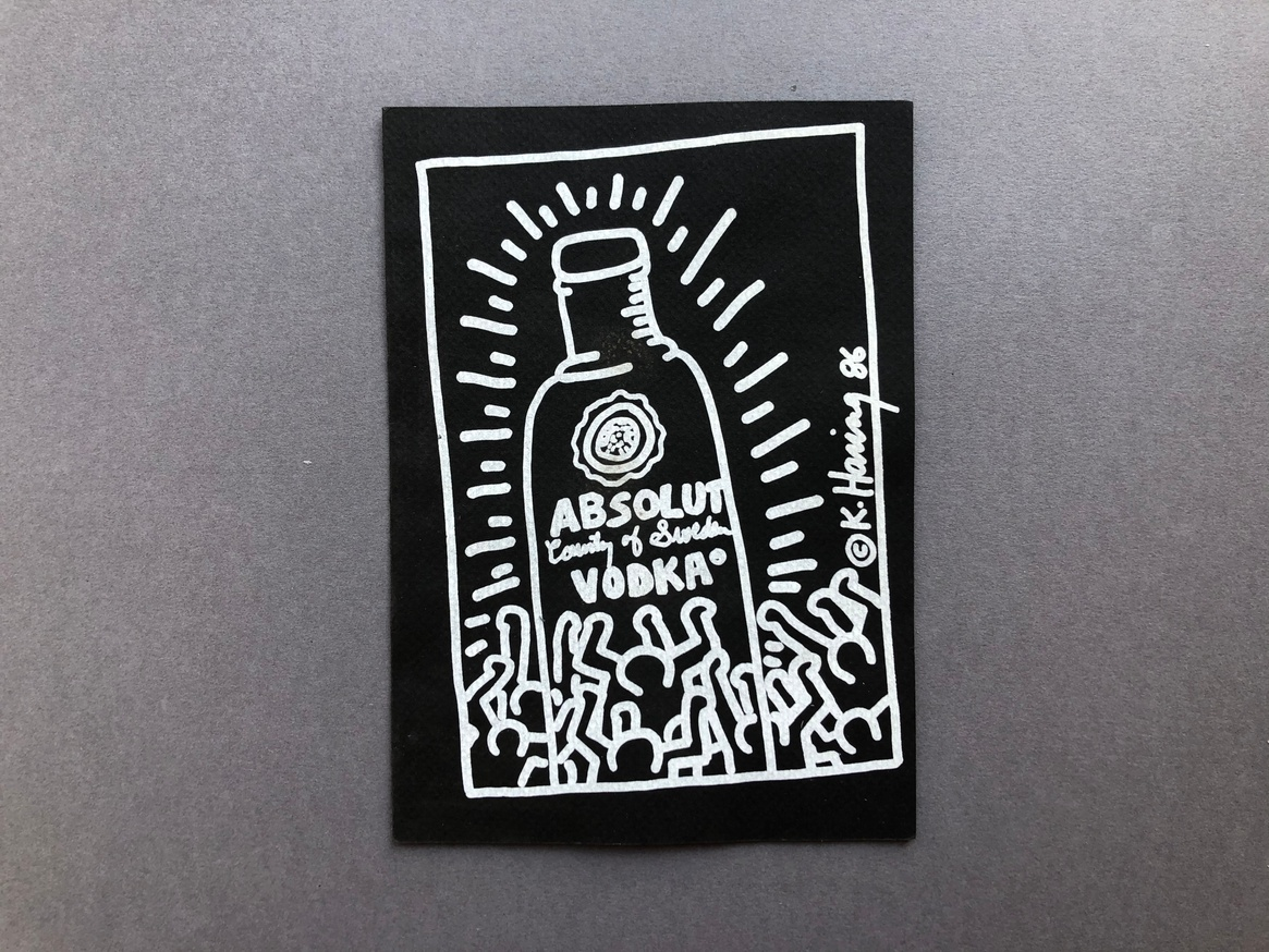 Absolut Keith Haring [invitation card to unveiling at Whitney Museum]