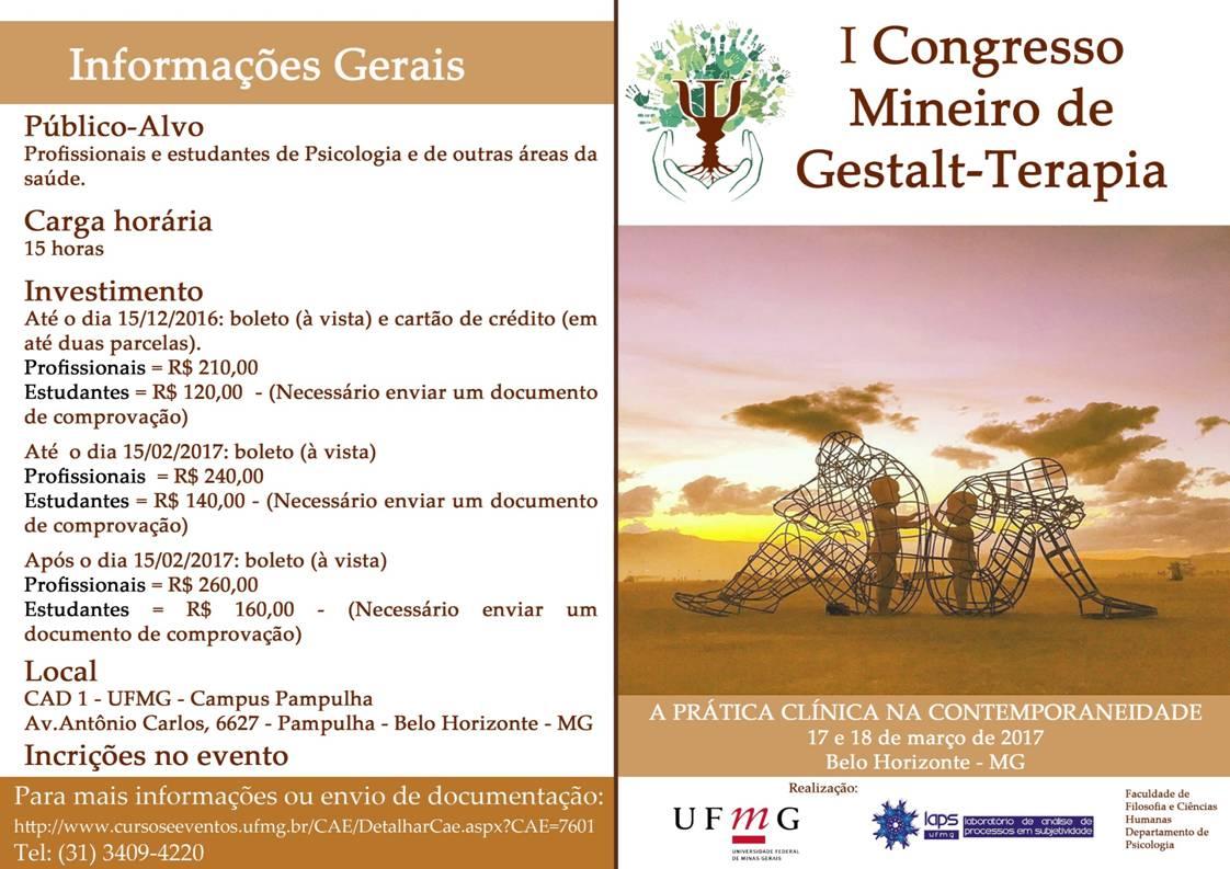 I Congresso Mineiro de Gestalt-terapia