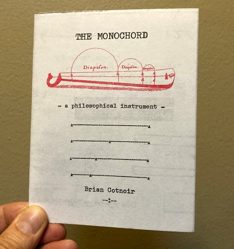 The Monochord: a philosophical instrument