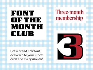 Font of the Month Club - Three Month Subscription