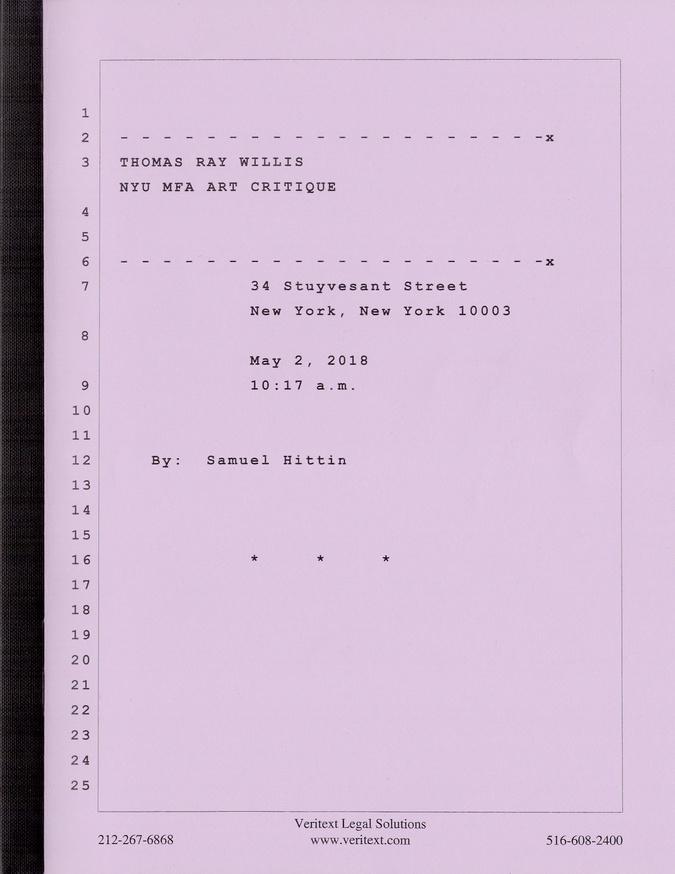 NYU MFA Art Critique thumbnail 8